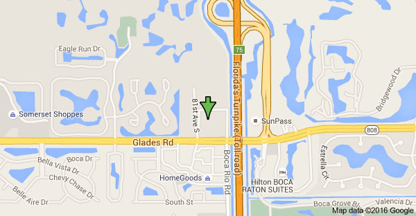 Map of 8177 Glades Rd, Boca Raton, FL 33434